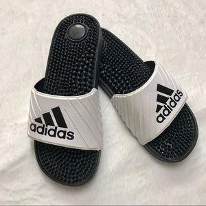 Adidas | Black & White Bead Slides Size 7W